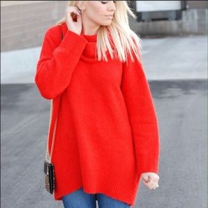 H&M large oversized red sweater